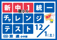 新中1チャレンジテスト