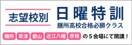 """志望校別日曜特訓"""""""
