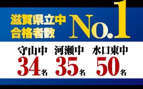 滋賀県立中合格者数 No.1